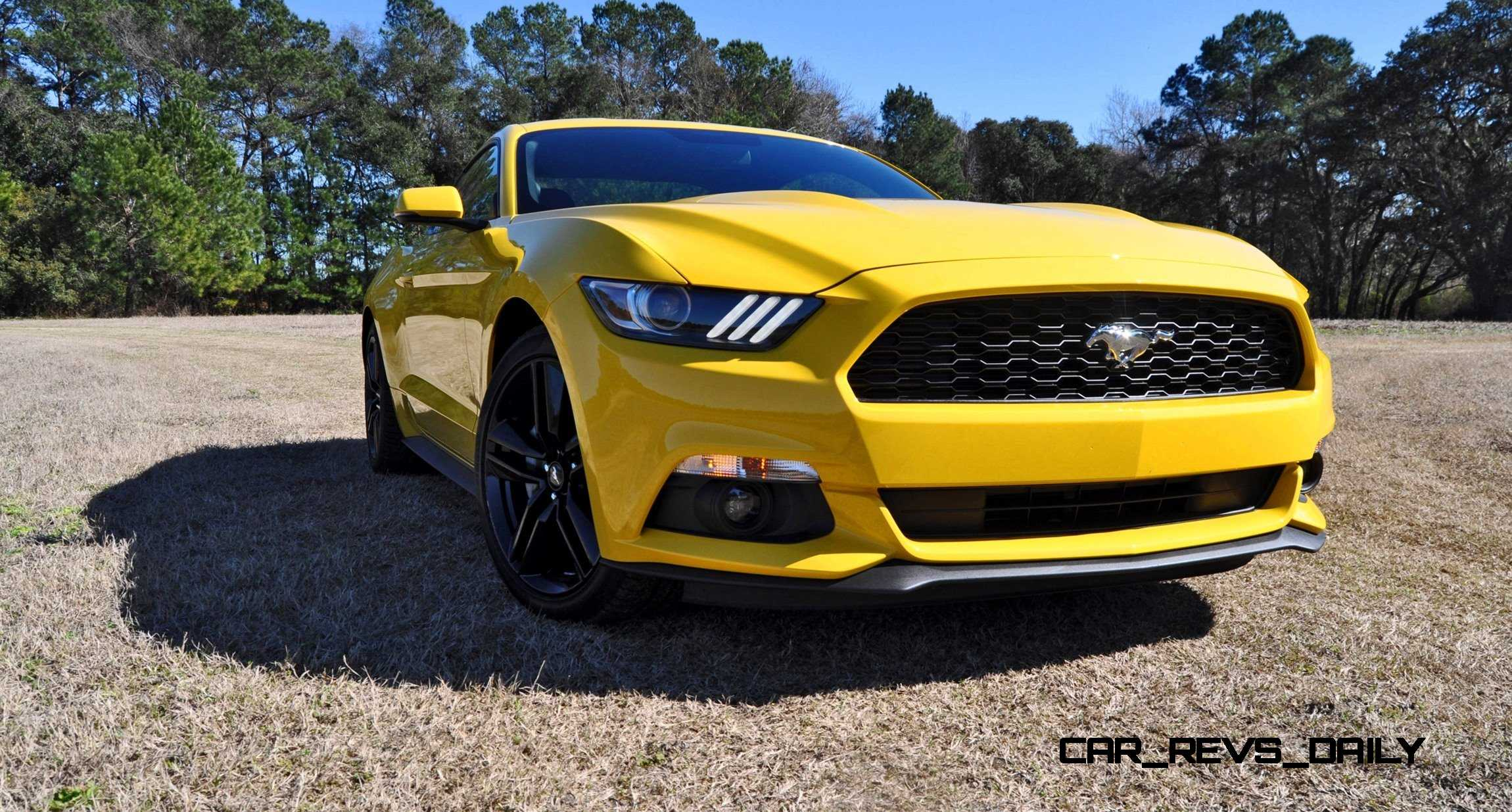 2015 ford mustang ecoboost in triple yellow 43. Black Bedroom Furniture Sets. Home Design Ideas