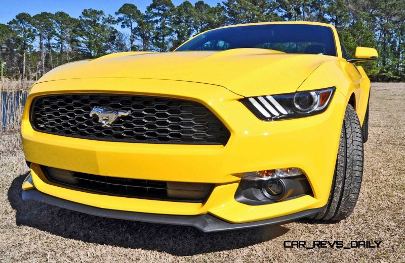 2015 Ford Mustang EcoBoost in Triple Yellow 49