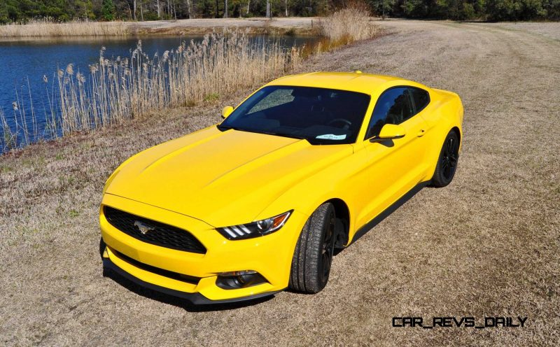 2015 Ford Mustang EcoBoost in Triple Yellow 53