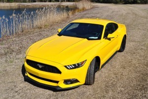 2015 Ford Mustang EcoBoost in Triple Yellow 54