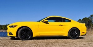 2015 Ford Mustang EcoBoost in Triple Yellow 74