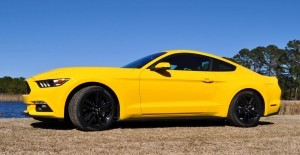 2015 Ford Mustang EcoBoost in Triple Yellow 75