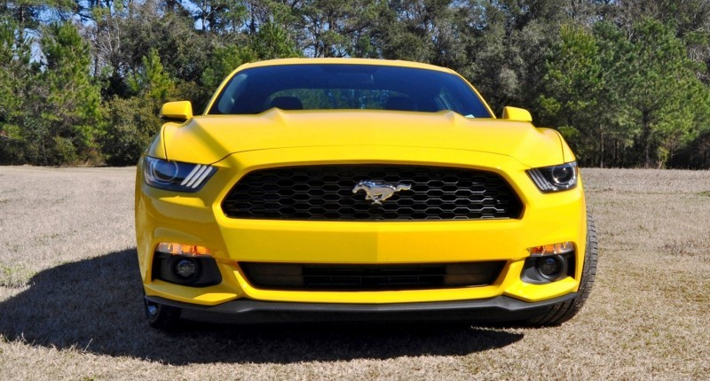 2015 Ford Mustang EcoBoost in Triple Yellow 8