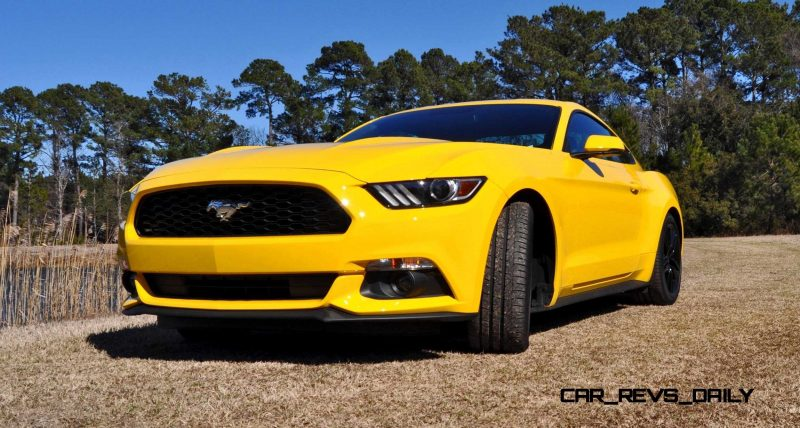 2015 Ford Mustang EcoBoost in Triple Yellow 80