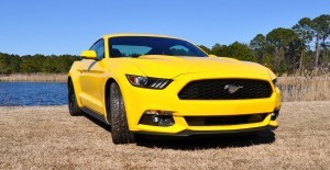 2015 Ford Mustang EcoBoost in Triple Yellow 90