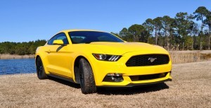 2015 Ford Mustang EcoBoost in Triple Yellow 91