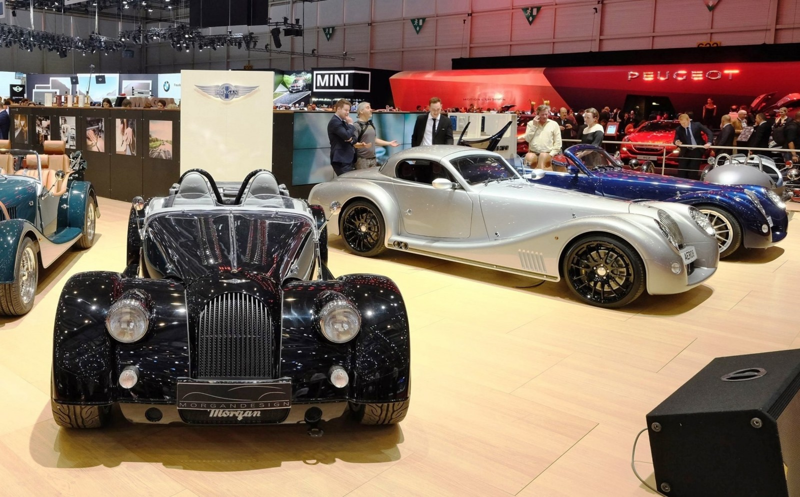 2015 Morgan Plus 8 SPEEDSTER Headlines Geneva Show Stand 12