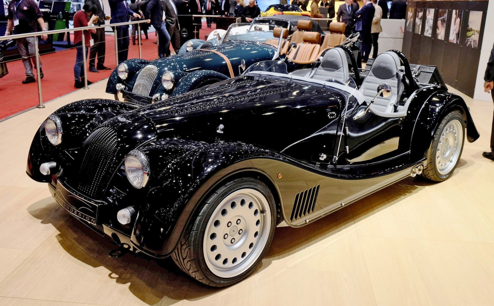 2015 Morgan Plus 8 SPEEDSTER Headlines Geneva Show Stand 2