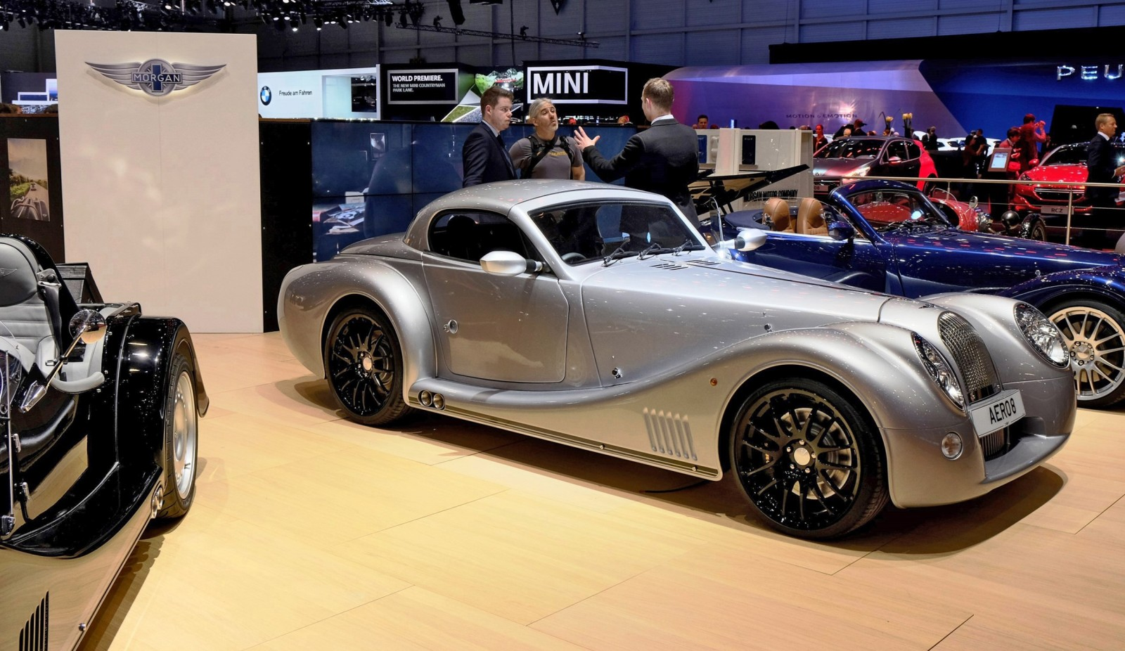 2015 Morgan Plus 8 SPEEDSTER Headlines Geneva Show Stand 5