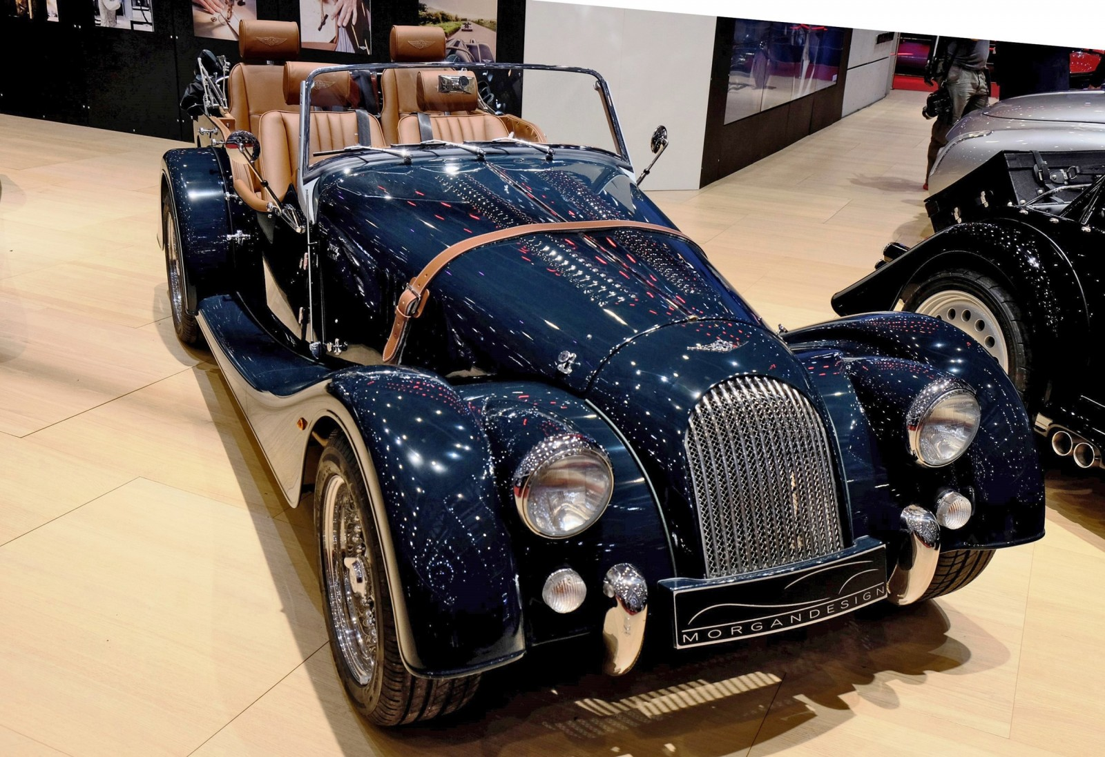2015 Morgan Plus 8 SPEEDSTER Headlines Geneva Show Stand 6