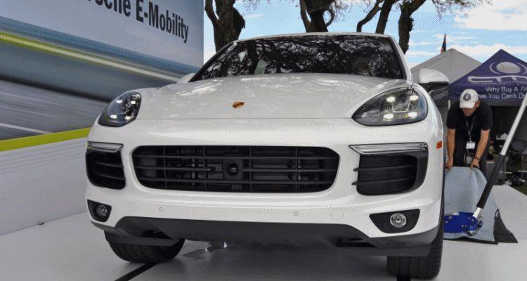 2015 Porsche Cayenne S E-Hybrid LED front nose