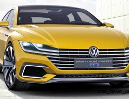 2015 Volkswagen Sport Coupe Concept GTE Shows Fresh Face for Passat CC Replacement
