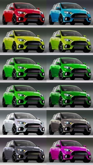2016 Ford Focus RS - Digital Colorizer 32-tile