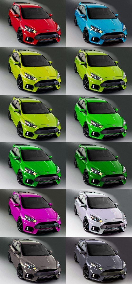 2016 Ford Focus RS - Digital Colorizer 9-tile