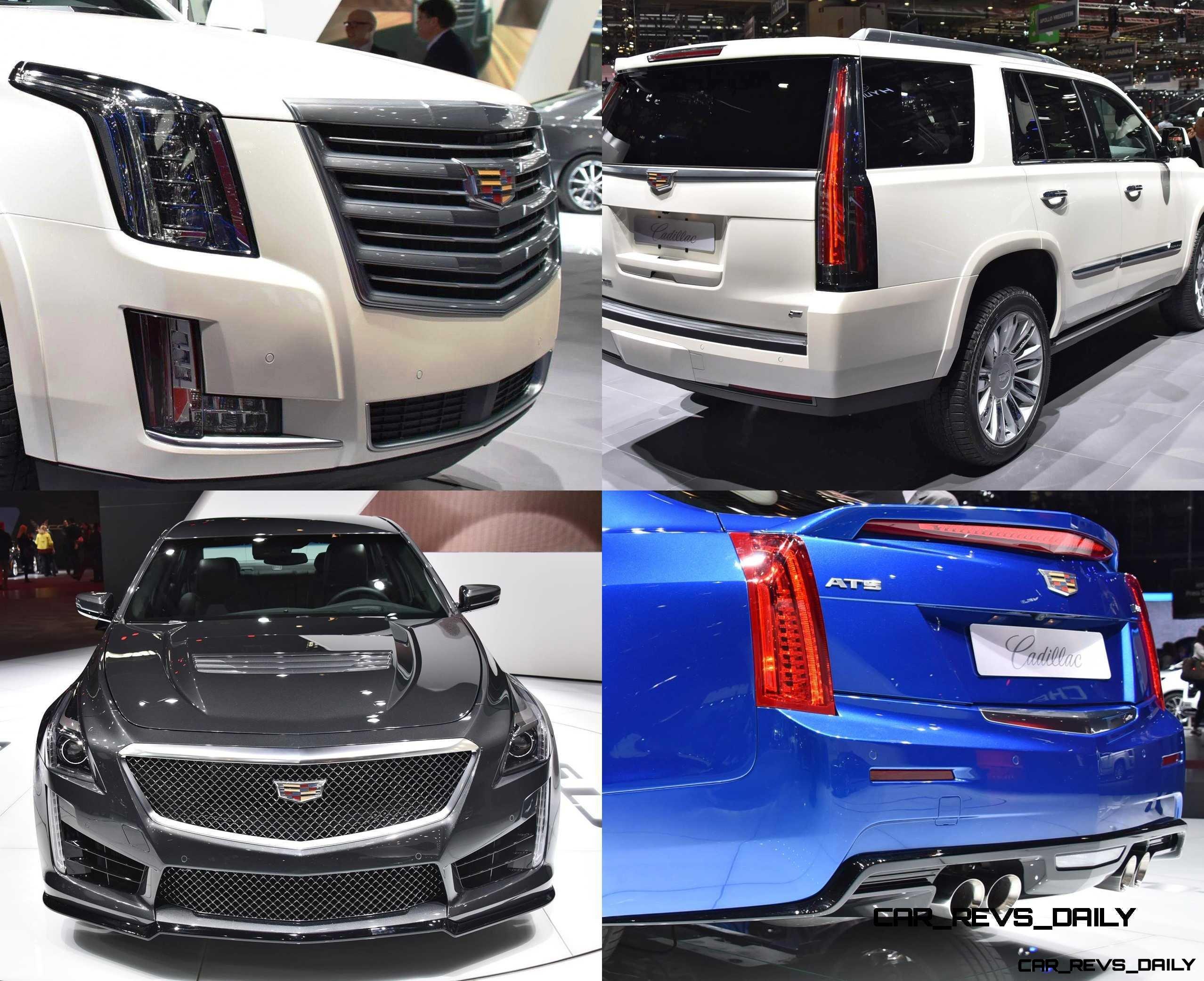 Geneva 2015 Gallery - Cadillac ATS-V and CTS-V + Euro-Spec Escalade Platinum 1-tile