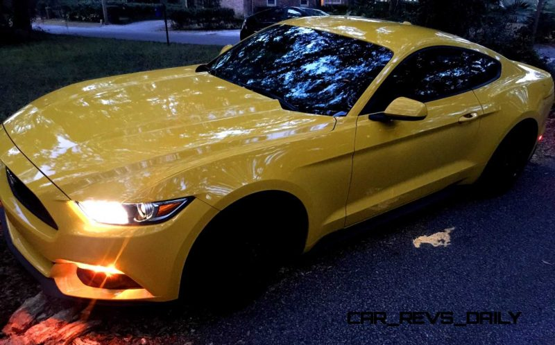 HD Road Test Review - 2015 Ford Mustang EcoBoost in Triple Yellow with Performance Pack 1