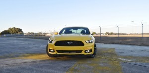HD Road Test Review - 2015 Ford Mustang EcoBoost in Triple Yellow with Performance Pack 101