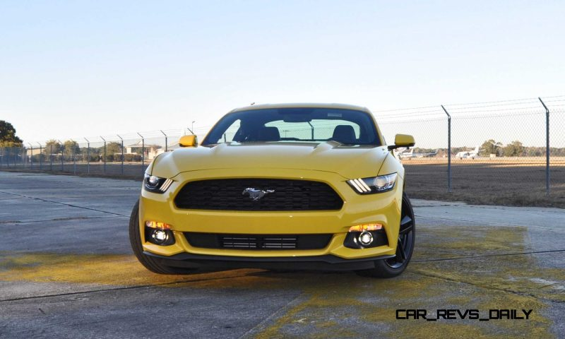 HD Road Test Review - 2015 Ford Mustang EcoBoost in Triple Yellow with Performance Pack 103