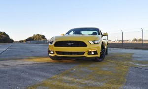 HD Road Test Review - 2015 Ford Mustang EcoBoost in Triple Yellow with Performance Pack 105