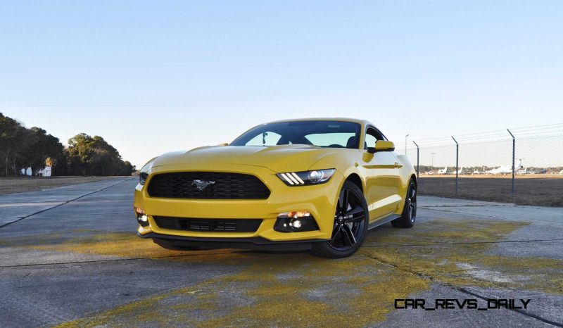 HD Road Test Review - 2015 Ford Mustang EcoBoost in Triple Yellow with Performance Pack 107