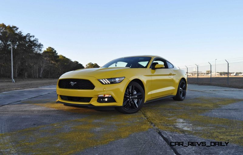 HD Road Test Review - 2015 Ford Mustang EcoBoost in Triple Yellow with Performance Pack 110