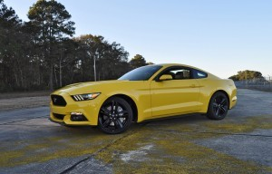 HD Road Test Review - 2015 Ford Mustang EcoBoost in Triple Yellow with Performance Pack 113