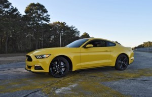 HD Road Test Review - 2015 Ford Mustang EcoBoost in Triple Yellow with Performance Pack 114
