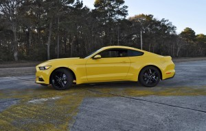 HD Road Test Review - 2015 Ford Mustang EcoBoost in Triple Yellow with Performance Pack 117