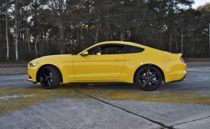 HD Road Test Review - 2015 Ford Mustang EcoBoost in Triple Yellow with Performance Pack 119
