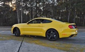 HD Road Test Review - 2015 Ford Mustang EcoBoost in Triple Yellow with Performance Pack 120
