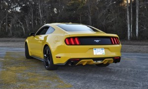 HD Road Test Review - 2015 Ford Mustang EcoBoost in Triple Yellow with Performance Pack 125