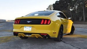 HD Road Test Review - 2015 Ford Mustang EcoBoost in Triple Yellow with Performance Pack 133