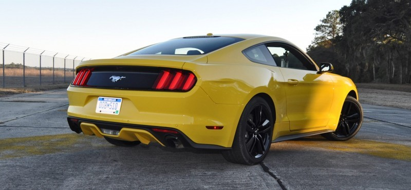 HD Road Test Review - 2015 Ford Mustang EcoBoost in Triple Yellow with Performance Pack 135