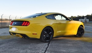 HD Road Test Review - 2015 Ford Mustang EcoBoost in Triple Yellow with Performance Pack 137
