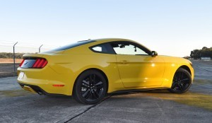 HD Road Test Review - 2015 Ford Mustang EcoBoost in Triple Yellow with Performance Pack 138