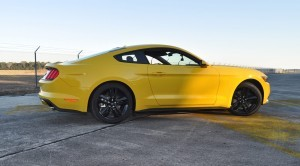 HD Road Test Review - 2015 Ford Mustang EcoBoost in Triple Yellow with Performance Pack 139