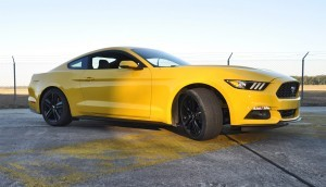 HD Road Test Review - 2015 Ford Mustang EcoBoost in Triple Yellow with Performance Pack 142