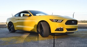 HD Road Test Review - 2015 Ford Mustang EcoBoost in Triple Yellow with Performance Pack 144
