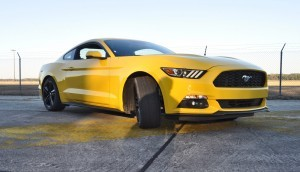 HD Road Test Review - 2015 Ford Mustang EcoBoost in Triple Yellow with Performance Pack 145