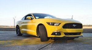 HD Road Test Review - 2015 Ford Mustang EcoBoost in Triple Yellow with Performance Pack 146