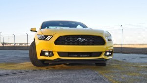 HD Road Test Review - 2015 Ford Mustang EcoBoost in Triple Yellow with Performance Pack 149