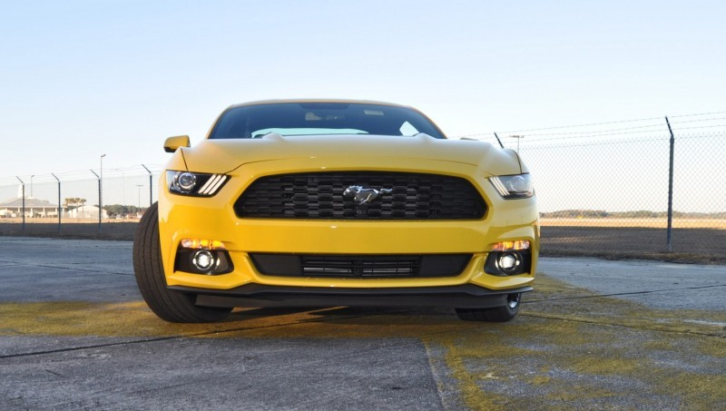 HD Road Test Review - 2015 Ford Mustang EcoBoost in Triple Yellow with Performance Pack 150