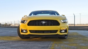 HD Road Test Review - 2015 Ford Mustang EcoBoost in Triple Yellow with Performance Pack 151