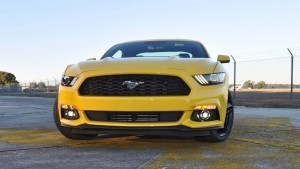 HD Road Test Review - 2015 Ford Mustang EcoBoost in Triple Yellow with Performance Pack 152