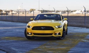 HD Road Test Review - 2015 Ford Mustang EcoBoost in Triple Yellow with Performance Pack 157