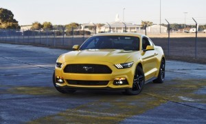 HD Road Test Review - 2015 Ford Mustang EcoBoost in Triple Yellow with Performance Pack 158