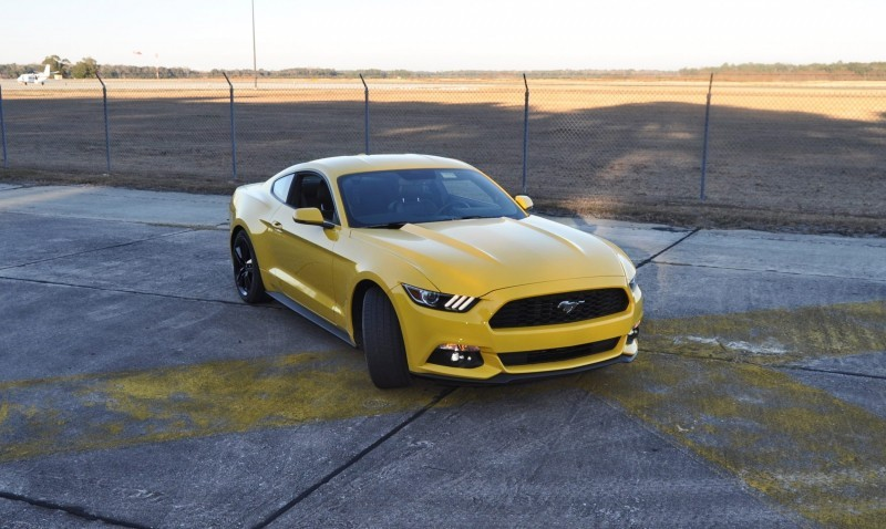 HD Road Test Review - 2015 Ford Mustang EcoBoost in Triple Yellow with Performance Pack 159