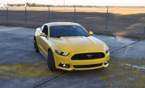 HD Road Test Review - 2015 Ford Mustang EcoBoost in Triple Yellow with Performance Pack 161