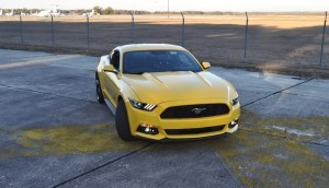 HD Road Test Review - 2015 Ford Mustang EcoBoost in Triple Yellow with Performance Pack 162
