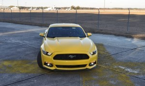 HD Road Test Review - 2015 Ford Mustang EcoBoost in Triple Yellow with Performance Pack 165
